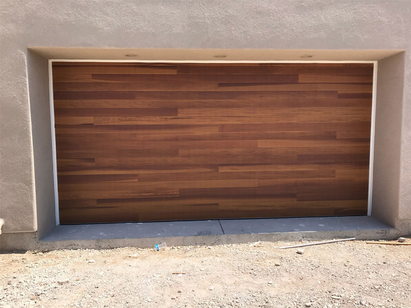 wide custom garage door