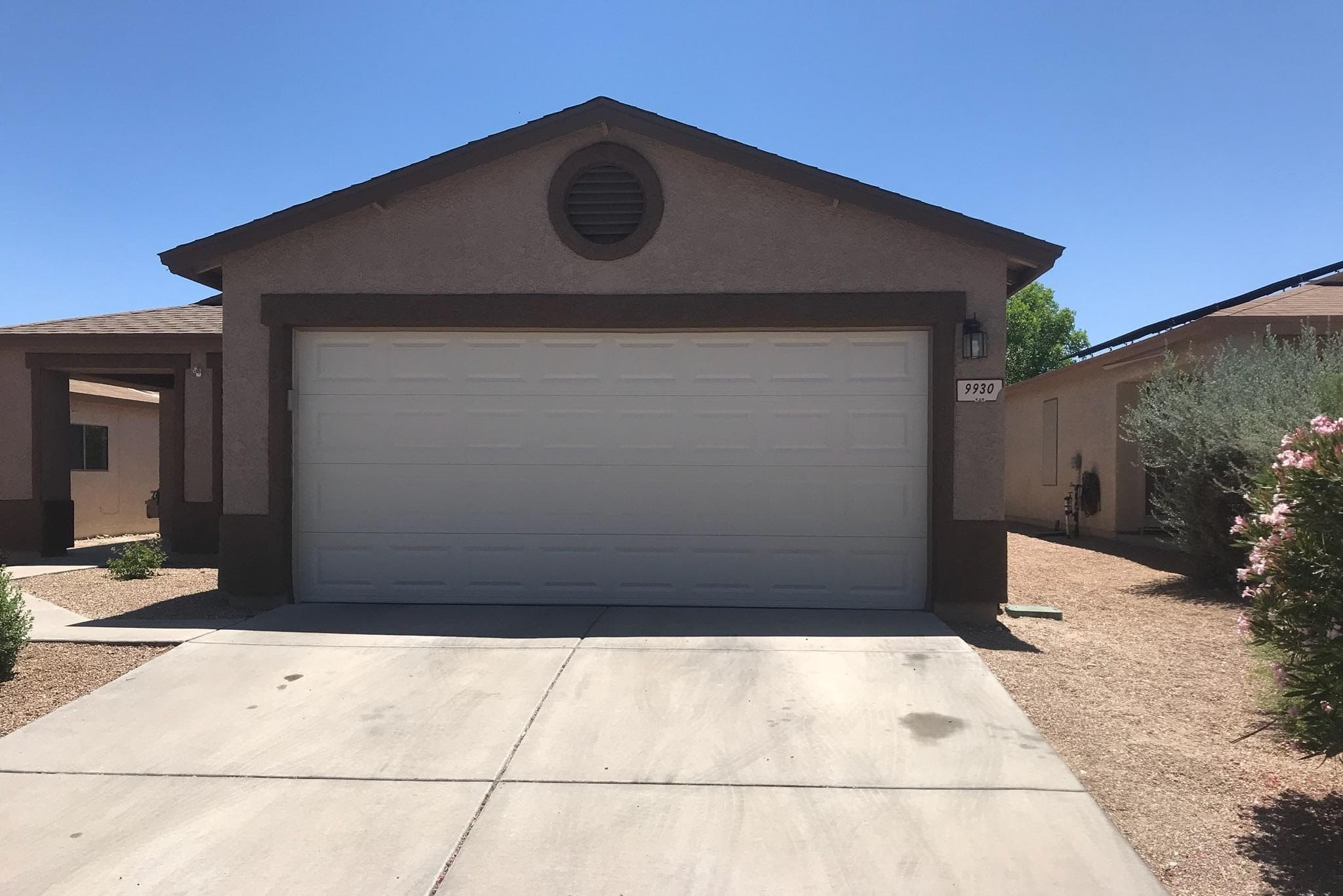 After Garage Door Repair in Tucson